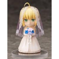 Fate/ Stay Night Chara Forme PVC Statue Saber 10th Anniversary Royal Dress Version 10 cm
