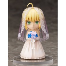Fate/ Stay Night Chara Forme PVC Statue Saber 10th Anniversary Royal Dress Version 10 cm