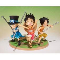 One Piece FiguartsZERO PVC Statue Luffy & Ace & Sabo - A Promise of Brothers 9 cm