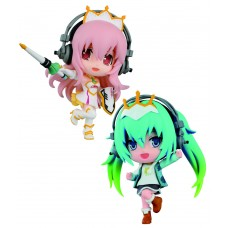 Vocaloid ChiBi Kyun Chara Figures 6 cm Assortment Racing Miku & Super Sonico Stage Ver.
