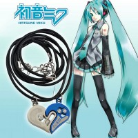 Hatsune Miku double heart necklace