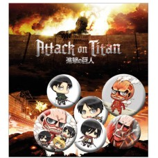 Attack on Titan Pin Badges 6-Pack Mix 2