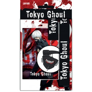 Tokyo Ghoul Lanyard with Rubber Keychain Logo