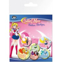 Sailor Moon Pin Badges 6-Pack Mix