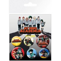 My Hero Academia Pin Badges 6-Pack Mix