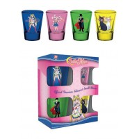 Sailor Moon Premium Shotglass 4-Pack Characters & Symbols