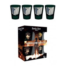 Attack on Titan Premium Shotglass 4-Pack Symbols