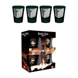 Attack on Titan Premium Shotglass 4-Pack Symbols
