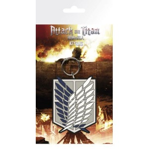 Attack on Titan S2 Rubber Keychain Badge 7 cm