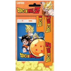 Dragonball Z Lanyard with Rubber Keychain Goku