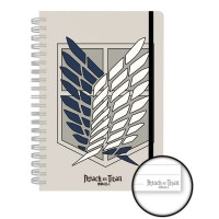 Attack on Titan Notebook A5 Badge