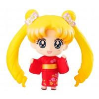 Sailor Moon Petit Chara Pretty Soldier Mini Figure Usagi Tsukino Yukata Ver. 6 cm