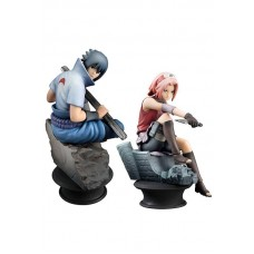 Naruto Chess Piece Collection Figure 2-Pack Sasuke & Sakura 9 cm