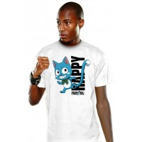 Fairy Tail T-Shirt Happy Blue