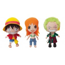 One Piece Beanie Plush Figures 18 cm Display